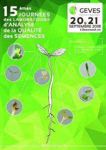 Affiche des 15èmes journées des laboratoires d'analyse de la qualité des semences