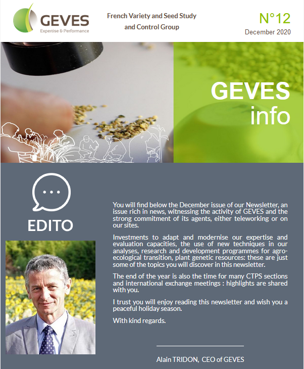 Newsletter anglaise GEVES